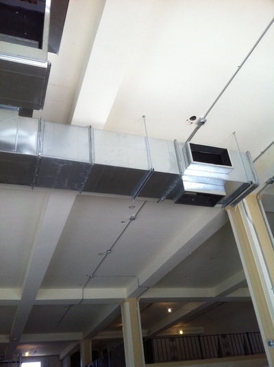 metal ceiling ducts
