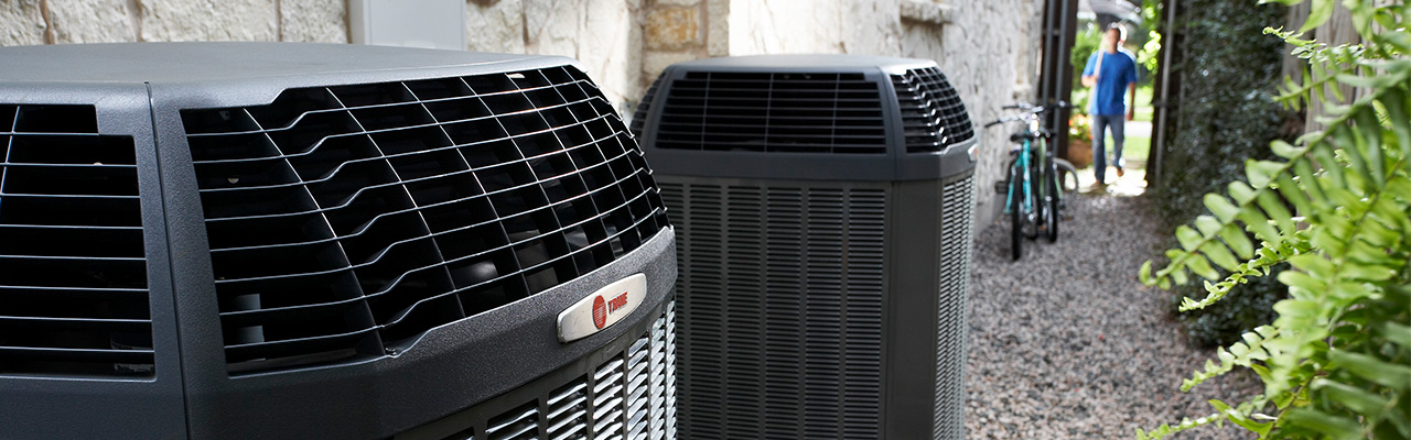 Trane air conditioning units outside